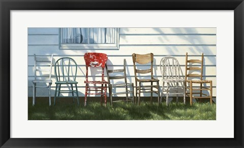 Framed Row Of Chairs Print
