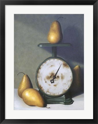 Framed Two Pound Pear Print
