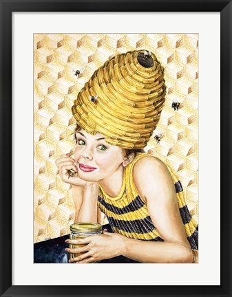 Framed Bee-Hive Hairdo Print