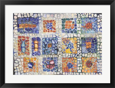 Framed Complementary Mosaic Print