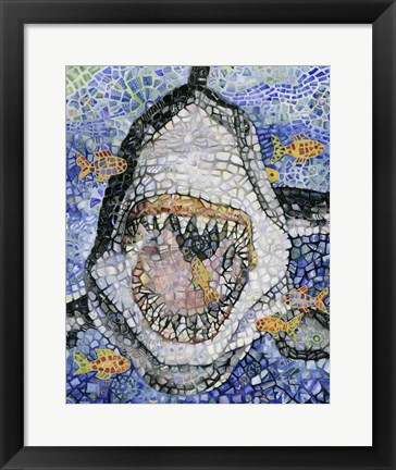 Framed Great White Print