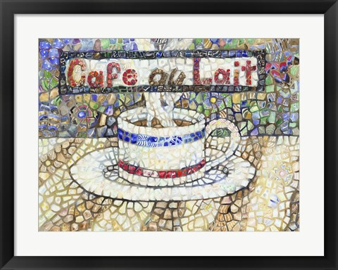 Framed Cafe Au Lait Print