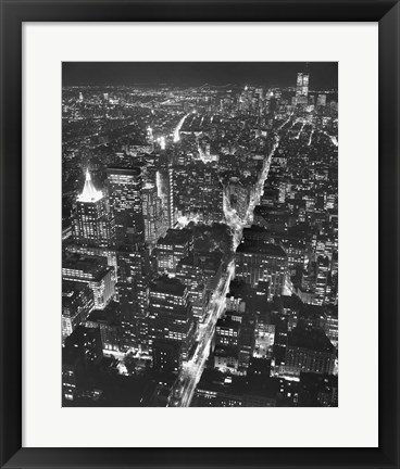 Framed City at Night Print
