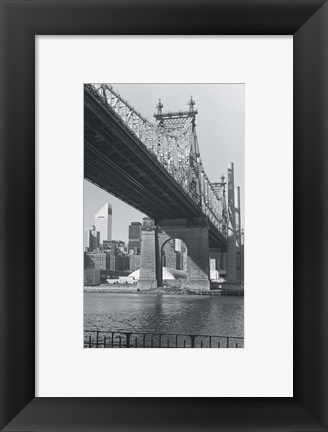 Framed Bridge over a River Print