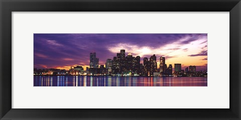 Framed Boston Print