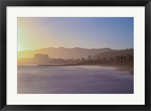 Framed Down the Beach Print
