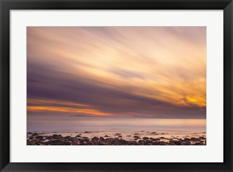 Framed Fire in the Sky Print