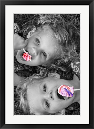 Framed Lollipop Twins Print
