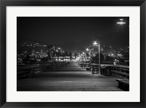 Framed Lonely Pier Print