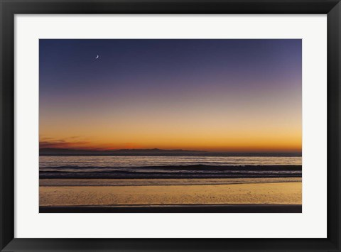 Framed Moonrise Sunset Print