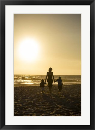 Framed Sunset Stroll Print