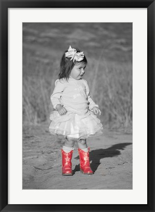 Framed These Boots Were Made for Walkin Print