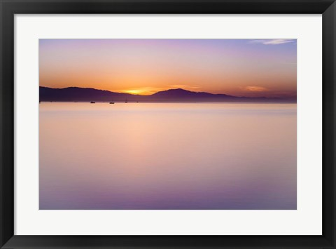 Framed Simple Sunrise Print