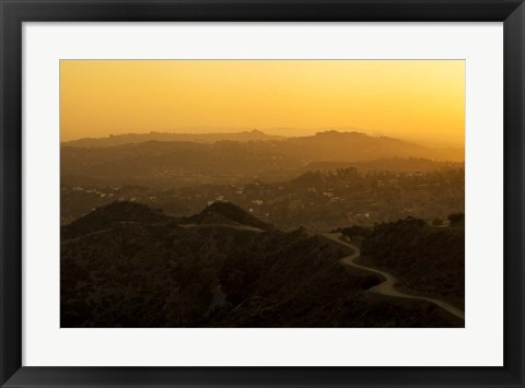 Framed Sunset Layers Print
