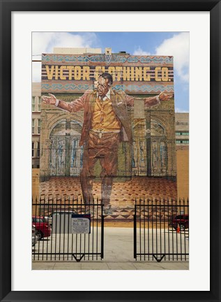 Framed Victor Clothing Co. Print