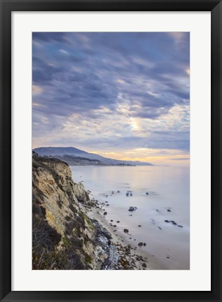 Framed Carpinteria Bluffs II Print