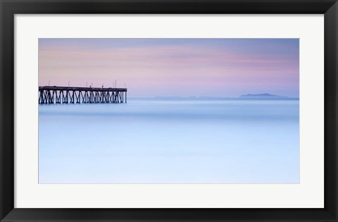 Framed Pier View to The Islands Print
