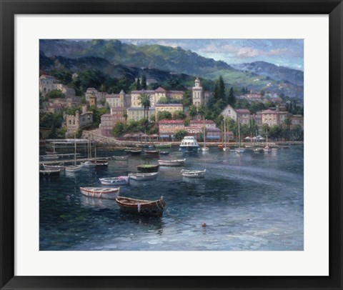 Framed Tranquil Harbor Print