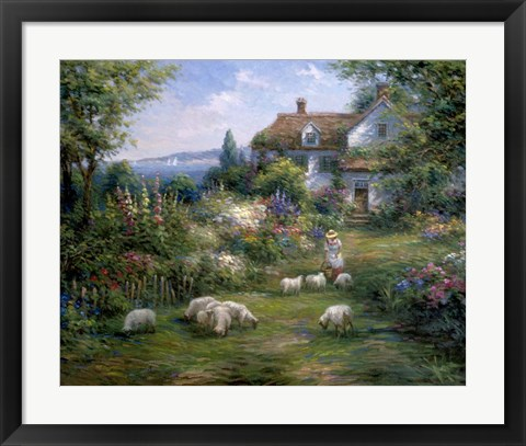 Framed Home Sheep Home Print
