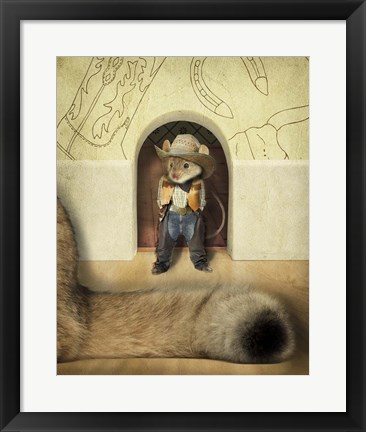 Framed New Mouse In Town Print