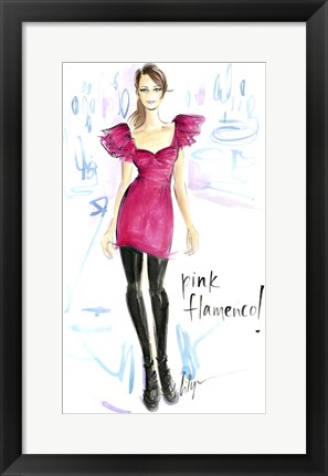 Framed Pink Flamenco Print
