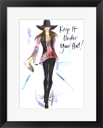 Framed Keep it Under Your Hat Print