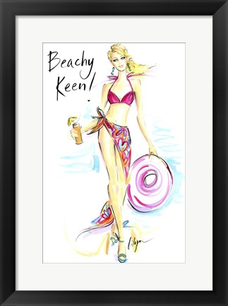 Framed Beachy Keen Print
