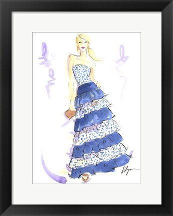 Framed Blue Jeannie Print