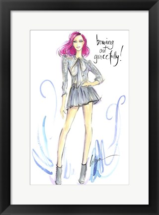 Framed Bowing Out Gracefully Print