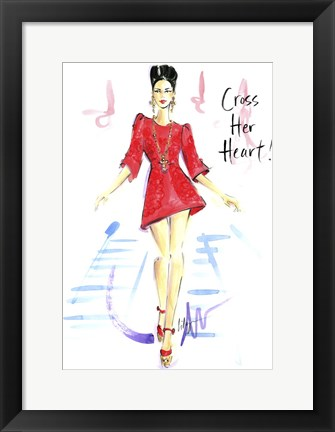 Framed Cross Her Heart Print