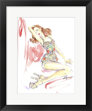 Framed Marilyn Monroe Shoes Print
