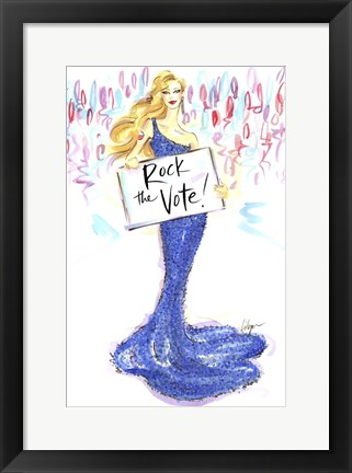 Framed Rock The Vote Print