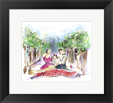 Framed Vine And Dine Print