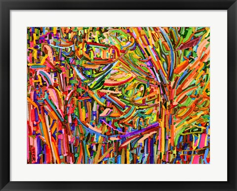 Framed Evergreens Print