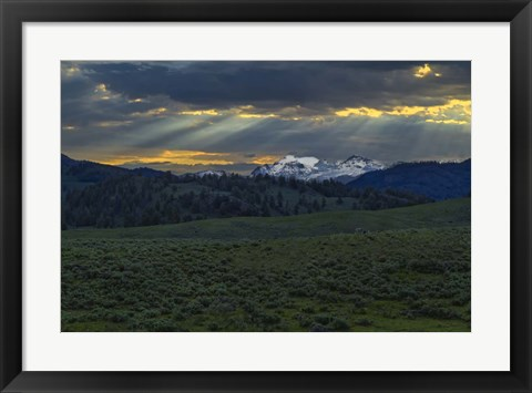 Framed Lamar Valley Sunrise Print