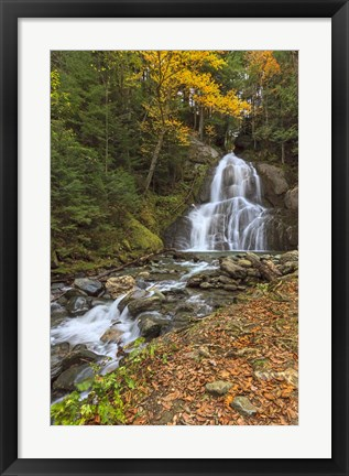 Framed Moss Glen Falls in VT Print