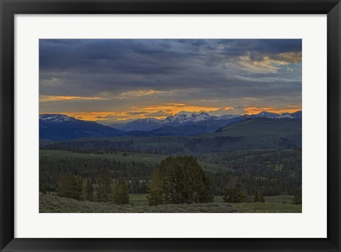 Framed Yellowstone Sunrise Print