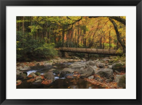 Framed Greenbrier Bridge With Stream Watercolor Print