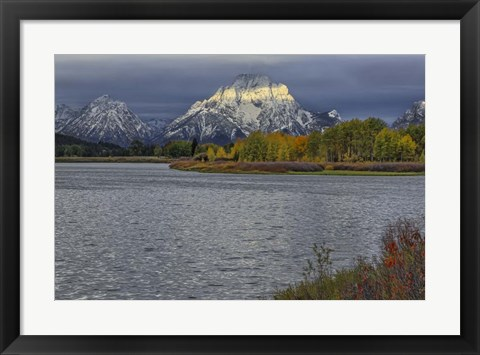 Framed Oxbow Bend Band Of Light Print