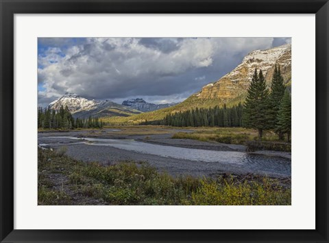 Framed Soda Butte Creek Scenery (Yellowstone) Print
