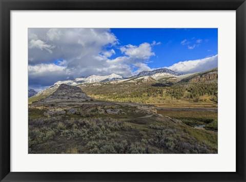 Framed Soda Butte In Yellowstone Print