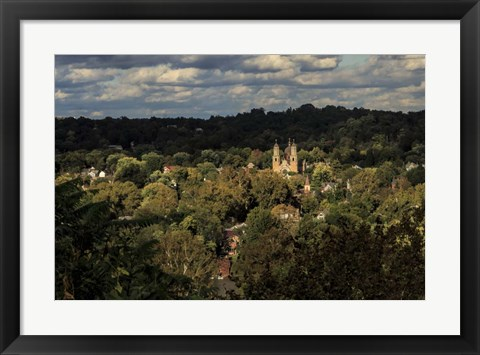 Framed St. Marys Church, Marietta Oh Print