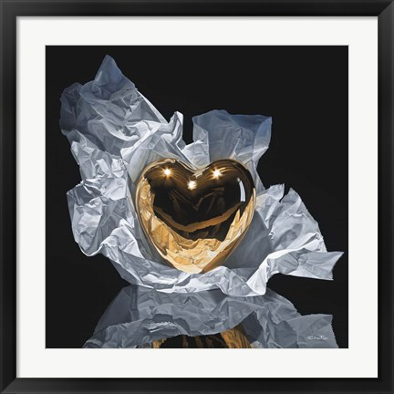 Framed Heart Of Gold Print