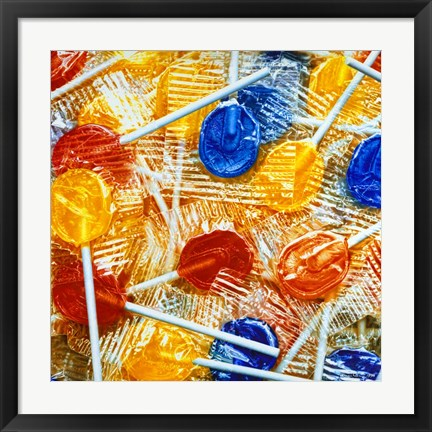 Framed Lollipops Print