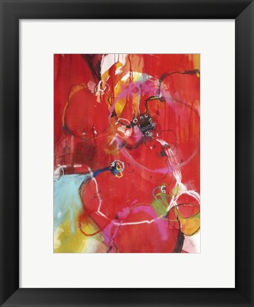 Framed Blooming Red Print