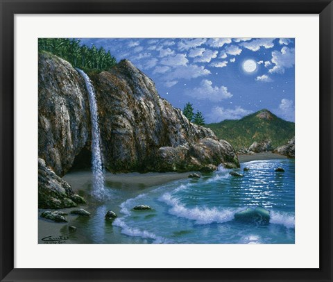 Framed Mc Way Cove - Big Sur Print