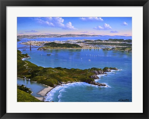 Framed San Francisco From Marine Print