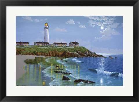 Framed Pigeon Point, CA Print