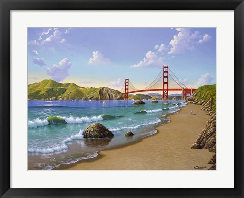 Framed Golden Gate, CA 1940 Print