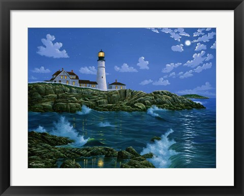 Framed Portland Head Light Print